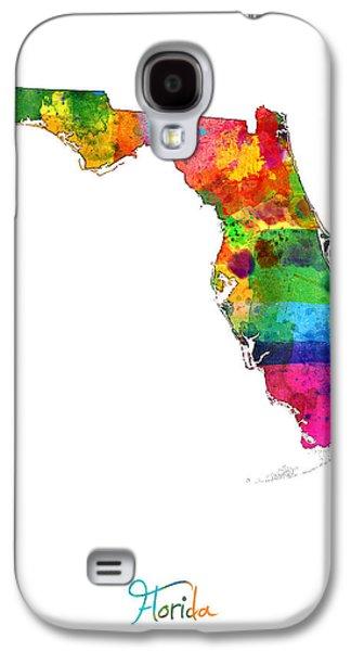 Florida Map Galaxy S4 Case by Michael Tompsett