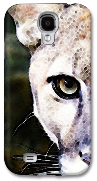 Panther Galaxy S4 Cases - Florida Panther Art - Hungry Galaxy S4 Case by Sharon Cummings