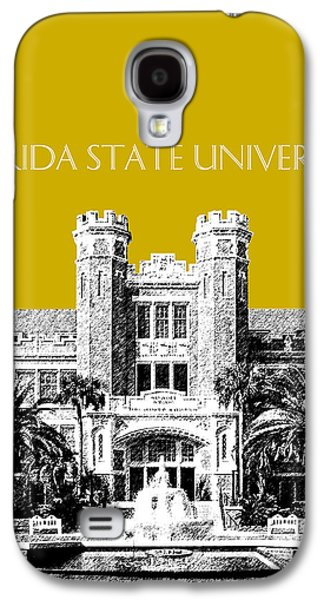 Universities Digital Art Galaxy S4 Cases - Florida State University - Gold Galaxy S4 Case by DB Artist