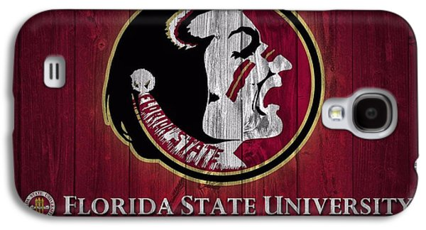 Universities Mixed Media Galaxy S4 Cases - Florida State University Barn Door Galaxy S4 Case by Dan Sproul