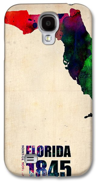 Universities Digital Art Galaxy S4 Cases - Florida Watercolor Map Galaxy S4 Case by Naxart Studio