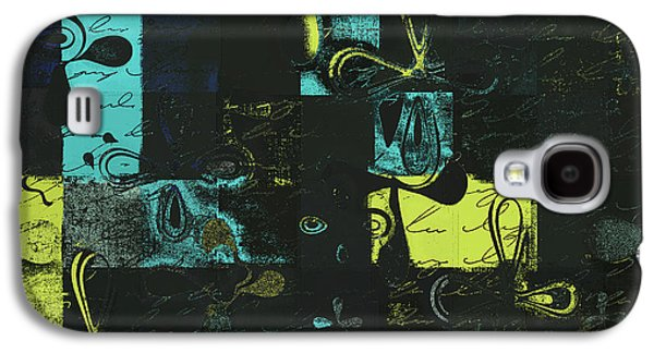 Blue Abstracts Galaxy S4 Cases - Florus Pokus a01 Galaxy S4 Case by Variance Collections