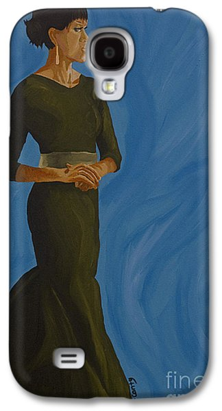 Michelle Obama Paintings Galaxy S4 Cases - Flotus Galaxy S4 Case by Cindy P Canty