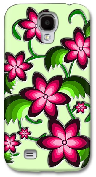 Digital Galaxy S4 Cases - Flower Arrangement Galaxy S4 Case by Anastasiya Malakhova