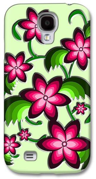 Plants Galaxy S4 Cases - Flower Arrangement Galaxy S4 Case by Anastasiya Malakhova