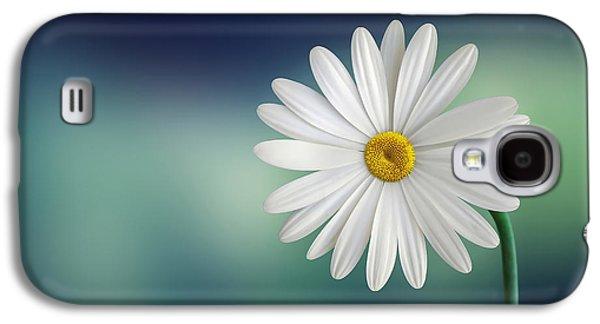 Botanical Galaxy S4 Cases - Flower Galaxy S4 Case by Bess Hamiti