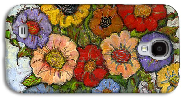 Colorful Paintings Galaxy S4 Cases - Flower Bouquet Galaxy S4 Case by Blenda Studio