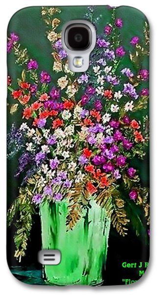 Abstract Digital Pastels Galaxy S4 Cases - Flower Bouquet Catus 1 no 2.1 V a Galaxy S4 Case by Gert J Rheeders
