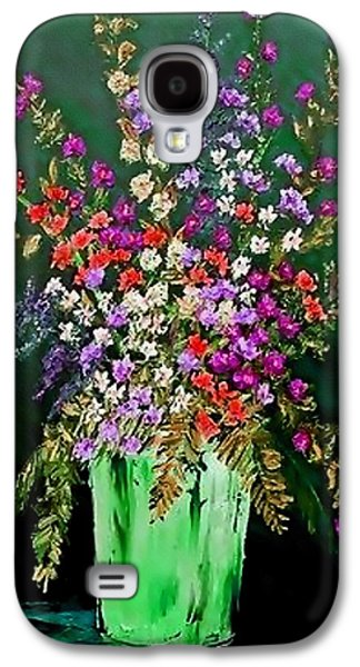 Abstract Digital Pastels Galaxy S4 Cases - Flower Bouquet Catus 1 no 2.1  V b Galaxy S4 Case by Gert J Rheeders