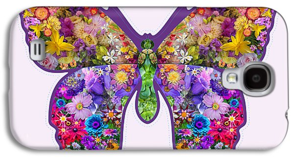 Alixandra Mullins Galaxy S4 Cases - Flower Butterfly Galaxy S4 Case by Alixandra Mullins