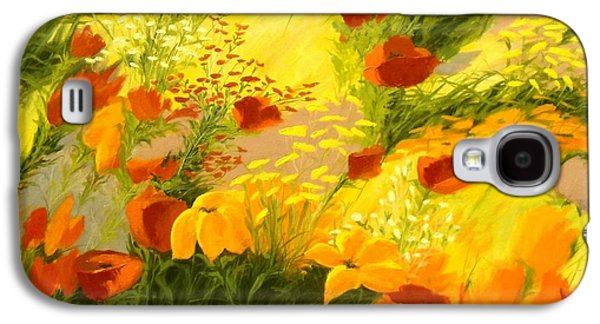 Windblown Paintings Galaxy S4 Cases - Flower Fantasy Galaxy S4 Case by Madeleine Holzberg