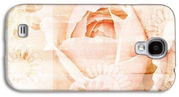 Textured Floral Galaxy S4 Cases - Flower Garden Galaxy S4 Case by Frank Tschakert