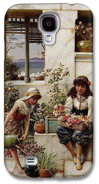 Flower Girls Galaxy S4 Case by William Stephen Coleman