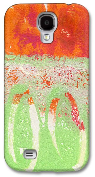 Studio Mixed Media Galaxy S4 Cases - Flower Market Galaxy S4 Case by Linda Woods
