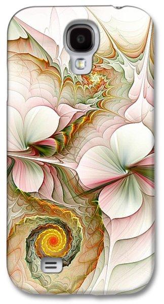 Green Galaxy S4 Cases - Flower Motion Galaxy S4 Case by Anastasiya Malakhova