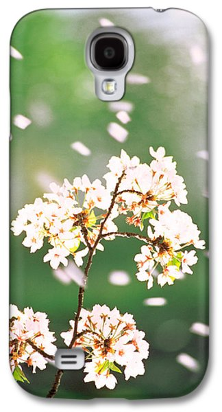 Close Focus Nature Scene Galaxy S4 Cases - Flower Petals Floating In Air Galaxy S4 Case by Panoramic Images