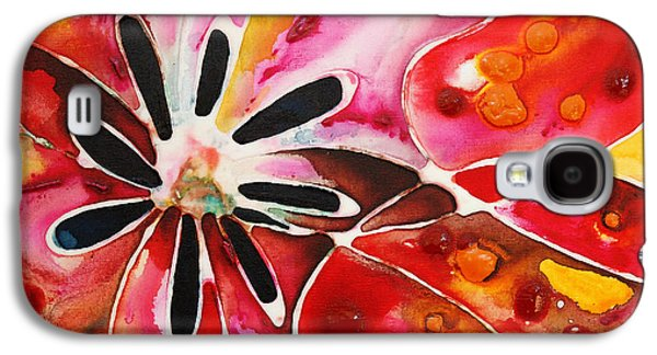 Business Galaxy S4 Cases - Flower Power - Abstract Floral By Sharon Cummings Galaxy S4 Case by Sharon Cummings