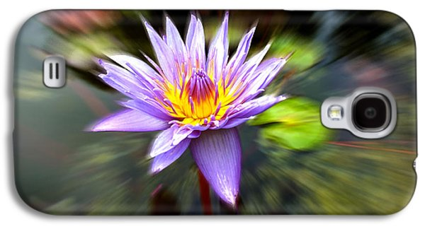 Abstract Nature Pyrography Galaxy S4 Cases - Flower Power Galaxy S4 Case by Hannah Underhill