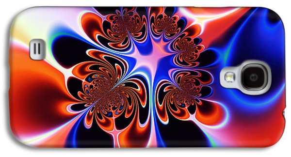 Algorithmic Abstract Galaxy S4 Cases - Flower Power Galaxy S4 Case by Ian Mitchell