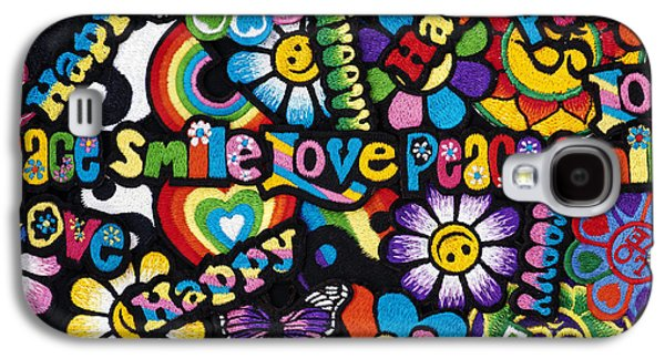 Yang Galaxy S4 Cases - Flower Power Galaxy S4 Case by Tim Gainey
