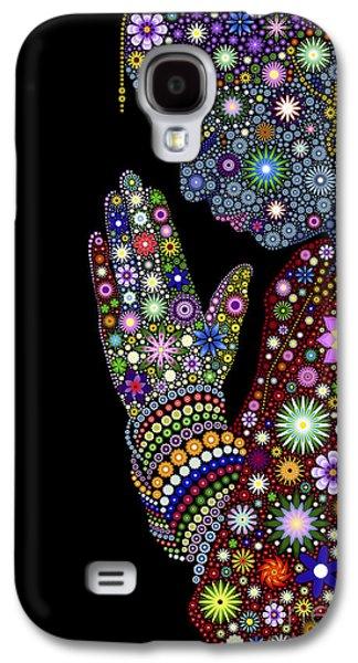 Illustration Digital Art Galaxy S4 Cases - Flower Prayer girl Galaxy S4 Case by Tim Gainey