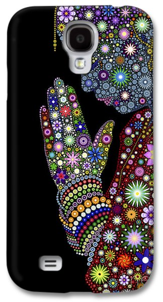 Floral Digital Art Galaxy S4 Cases - Flower Prayer girl Galaxy S4 Case by Tim Gainey