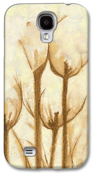Painter Photo Mixed Media Galaxy S4 Cases - Flower Sketch Galaxy S4 Case by Yanni Theodorou