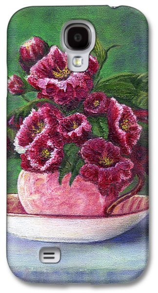 Catherine White Paintings Galaxy S4 Cases - Flower Song  Galaxy S4 Case by Catherine Howard