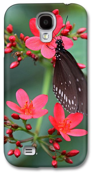 Florida Flowers Photographs Galaxy S4 Cases - Flower with Butterfly Galaxy S4 Case by Juergen Roth