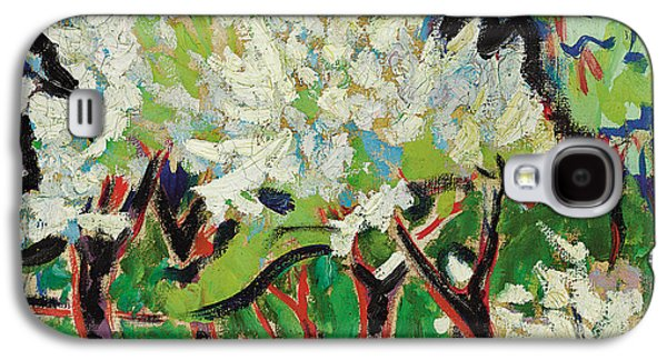 Flowering Trees Iv Galaxy S4 Case by Ernst Ludwig Kirchner