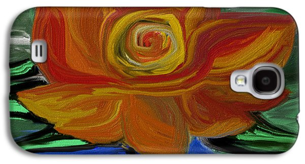 Abstract Digital Paintings Galaxy S4 Cases - Flowers 1 Galaxy S4 Case by Judi Walters