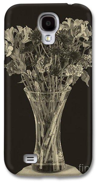 Flower Still Life Prints Galaxy S4 Cases - Flowers 1860s Galaxy S4 Case by Edward Fielding