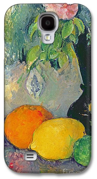 Flowers And Fruits Galaxy S4 Case by Paul Cezanne