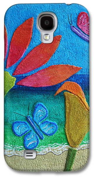 Butterflies Reliefs Galaxy S4 Cases - Flowers And The Sea Galaxy S4 Case by Fred Odle