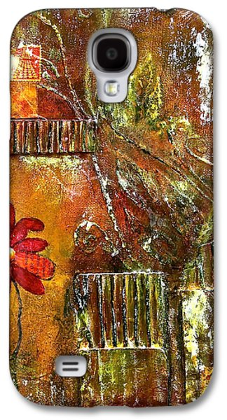Cardboard Mixed Media Galaxy S4 Cases - Flowers Grow Anywhere Galaxy S4 Case by Bellesouth Studio