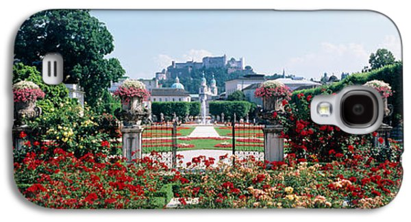 Garden Scene Galaxy S4 Cases - Flowers In A Formal Garden, Mirabell Galaxy S4 Case by Panoramic Images
