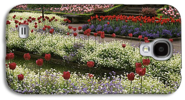 Garden Scene Galaxy S4 Cases - Flowers In A Garden, Butchart Gardens Galaxy S4 Case by Panoramic Images