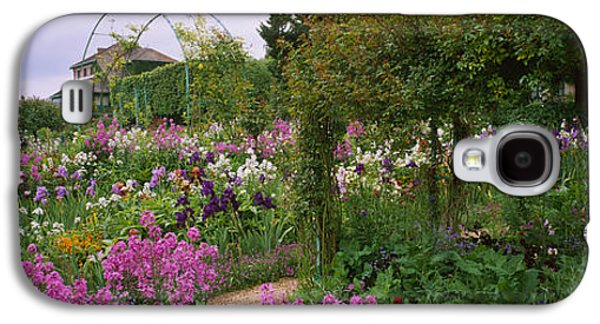 Garden Scene Galaxy S4 Cases - Flowers In A Garden, Foundation Claude Galaxy S4 Case by Panoramic Images