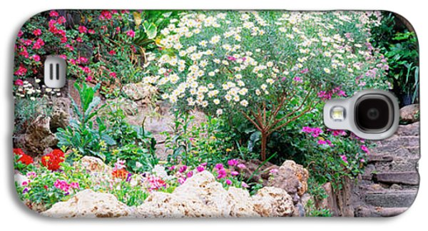 Garden Scene Galaxy S4 Cases - Flowers In A Garden, Tossa De Mar, Old Galaxy S4 Case by Panoramic Images