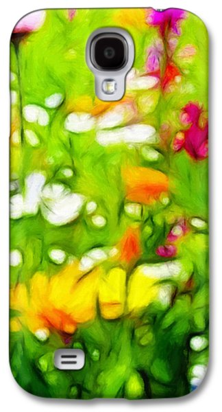 Floral Pastels Galaxy S4 Cases - Flowers in the Garden Galaxy S4 Case by Stefan Kuhn