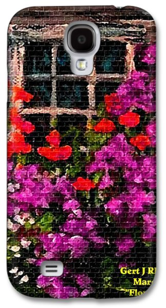 Abstract Digital Pastels Galaxy S4 Cases - Flowers Near a Window H a Galaxy S4 Case by Gert J Rheeders