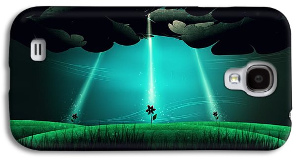 Animation Galaxy S4 Cases - Flowers Under the Clouds Galaxy S4 Case by Gianfranco Weiss