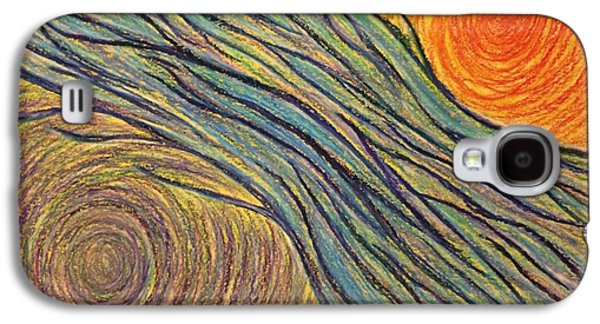 Spiritual Pastels Galaxy S4 Cases - Flowing Energy #1 Galaxy S4 Case by Jamie Rogers