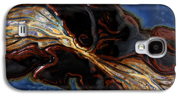 Nature Abstract Ceramics Galaxy S4 Cases - Flowing Textures Galaxy S4 Case by Gail Frasier