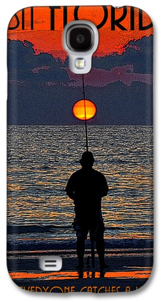 Sunset Posters Galaxy S4 Cases - Visit Florida poster work A Galaxy S4 Case by David Lee Thompson