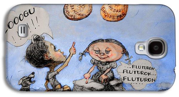Caricatures Galaxy S4 Cases - Fluturon...Fluturon...Fluturon..Zogu Galaxy S4 Case by Ylli Haruni