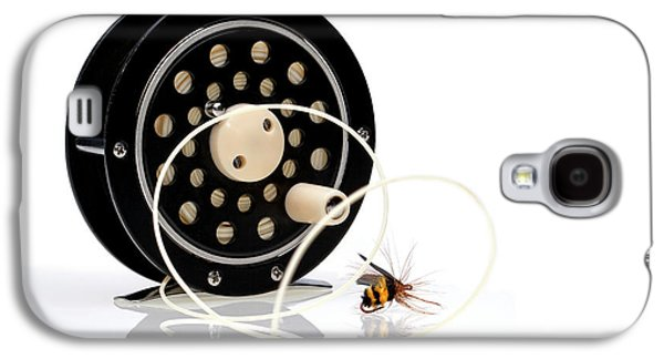 Fly Fishing Reel With Fly Galaxy S4 Case by Tom Mc Nemar