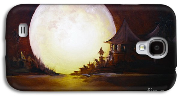 Bob Ross Paintings Galaxy S4 Cases - Fly Me to the Moon Galaxy S4 Case by David Kacey
