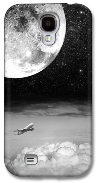 Jet Star Galaxy S4 Cases - Fly Me To The Moon Galaxy S4 Case by Semmick Photo