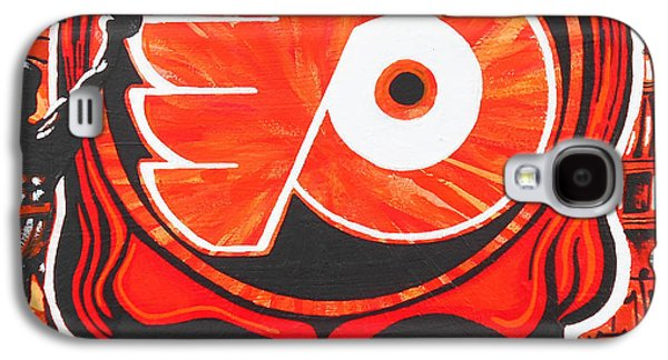 Phillies Paintings Galaxy S4 Cases - Flyer Love Galaxy S4 Case by Kevin J Cooper Artwork